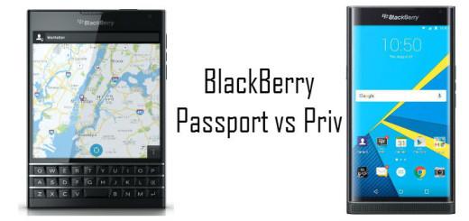 Blackberry Passport vs Priv