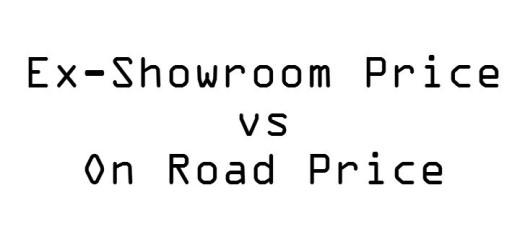 Ex showroom vs on road price