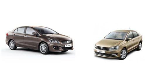 Maruti Suzuki Ciaz vs. Volkswagen Vento
